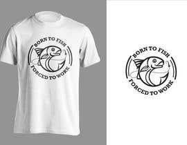 """jiamun tarafından Design a """"born to fish"""" fishing T-Shirt için no 24"""