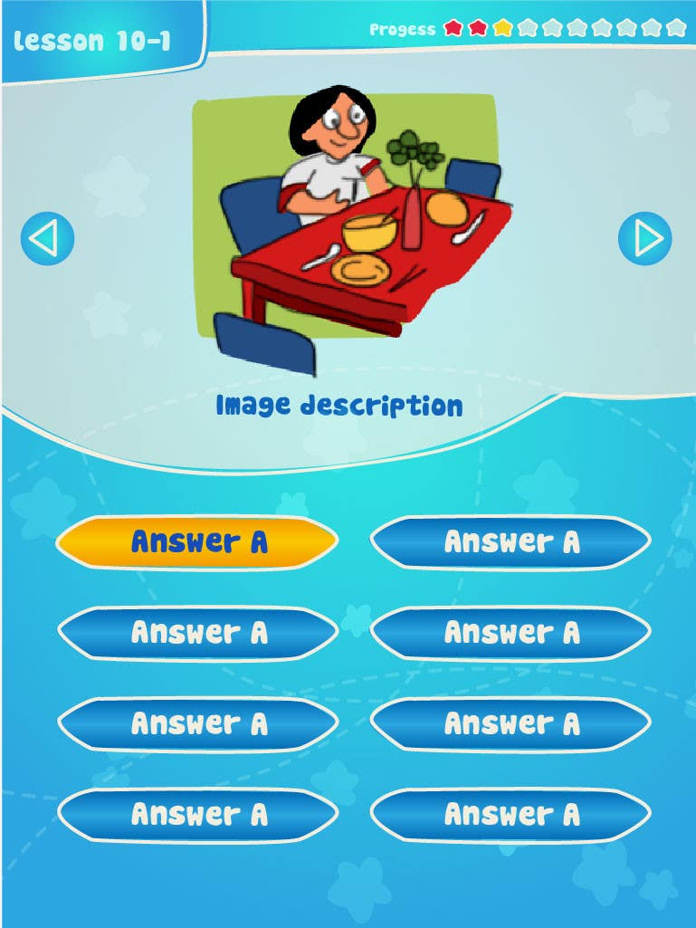 #10 for Design cartoon UI for learning app (single frame) by patlau