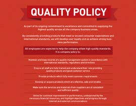 #101 untuk Design a Flyer for a Quality Policy Document oleh samazran