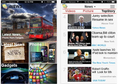 #38 for Design the User interface for a Mobile News App by cyber3c
