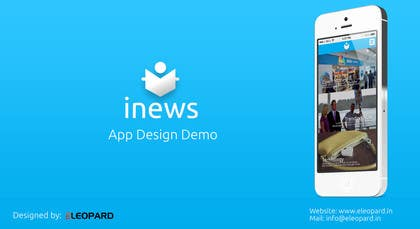 #4 for Design the User interface for a Mobile News App by eleopardstudios