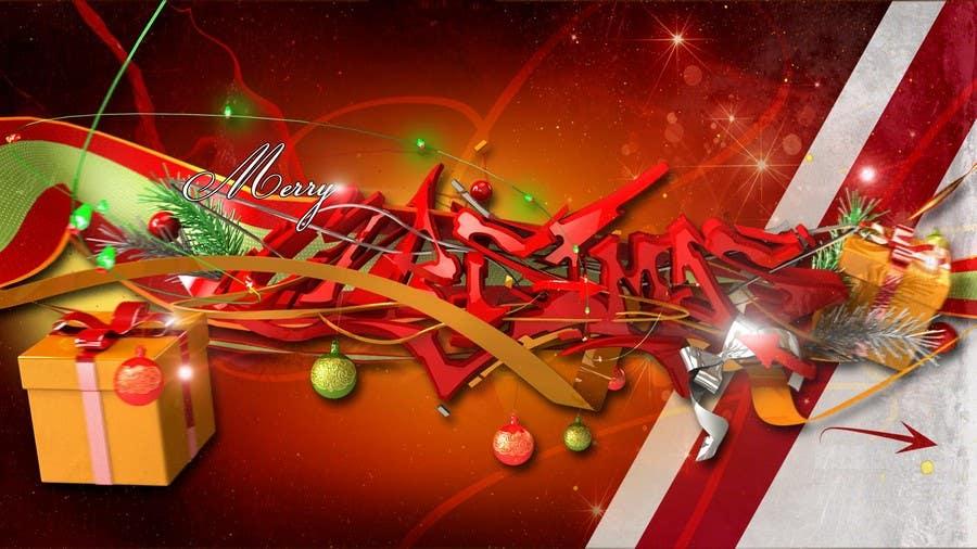 Christmas Graffiti Background.Entry 5 By Kikimara For Designing A Full Hd Christmas