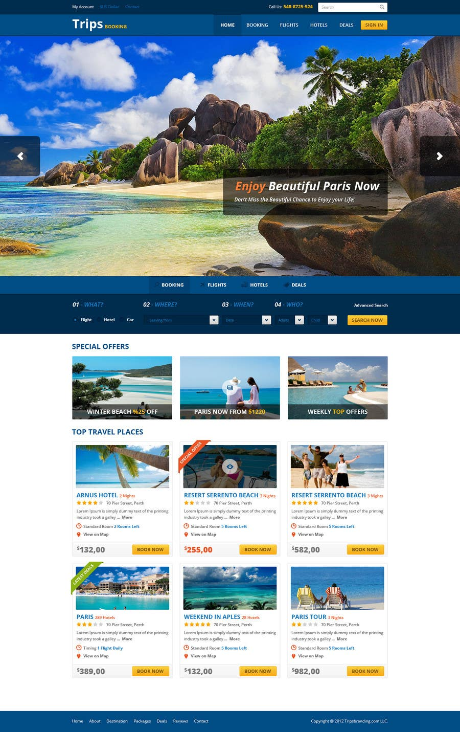 #2 for Design a Website Mockup for adventure travel booking website by mytuny