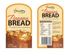 #89 pentru Banana bread packaging label design de către eliespinas