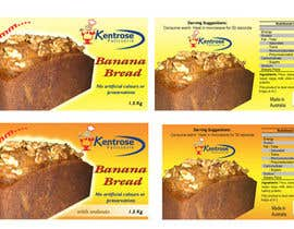 #24 для Banana bread packaging label design от blacku