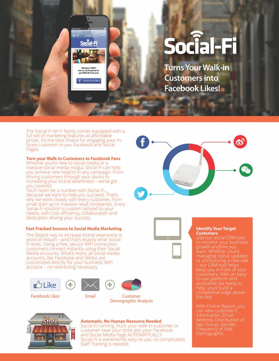 #20 for 48 Hour Design Flyer for Social Wi-fi by barinix