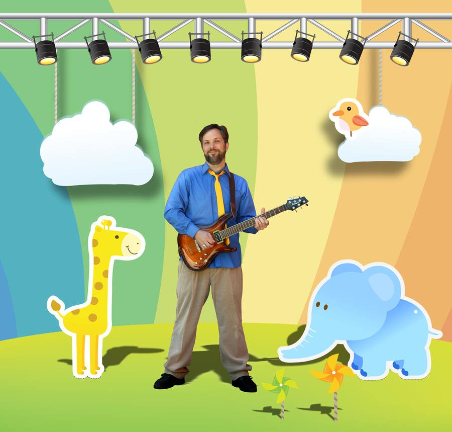 #73 for Edit/create picture background for kids' music performer by Tsurugirl