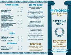maq123 tarafından Design a Catering Menu for Mykonos Greek Restaurant için no 13