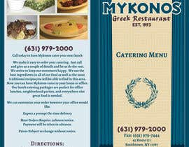 Kusmin tarafından Design a Catering Menu for Mykonos Greek Restaurant için no 5