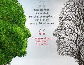 Nro 24 kilpailuun graphic design. poster carry idea of organ donation , käyttäjältä CandyHorse