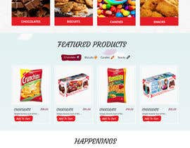 webmastersud tarafından Design creative website mock up for a snacks shop için no 40