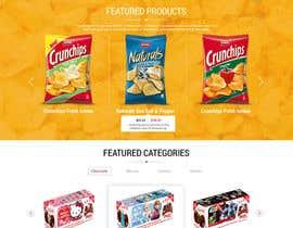 adixsoft tarafından Design creative website mock up for a snacks shop için no 38