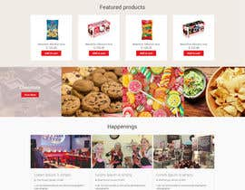nextdesign2007 tarafından Design creative website mock up for a snacks shop için no 36