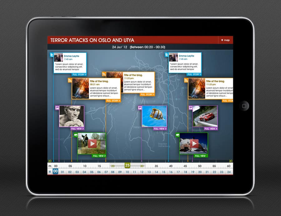 #14 for App Design: Visual timeline for mobile devices by redhatmac