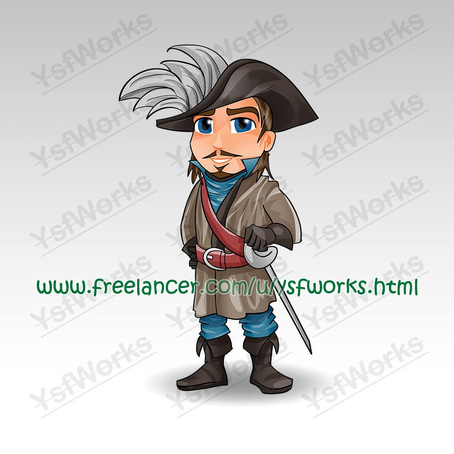 #36 for Cartoon Style Game Character Illustration Contest by ysfworks