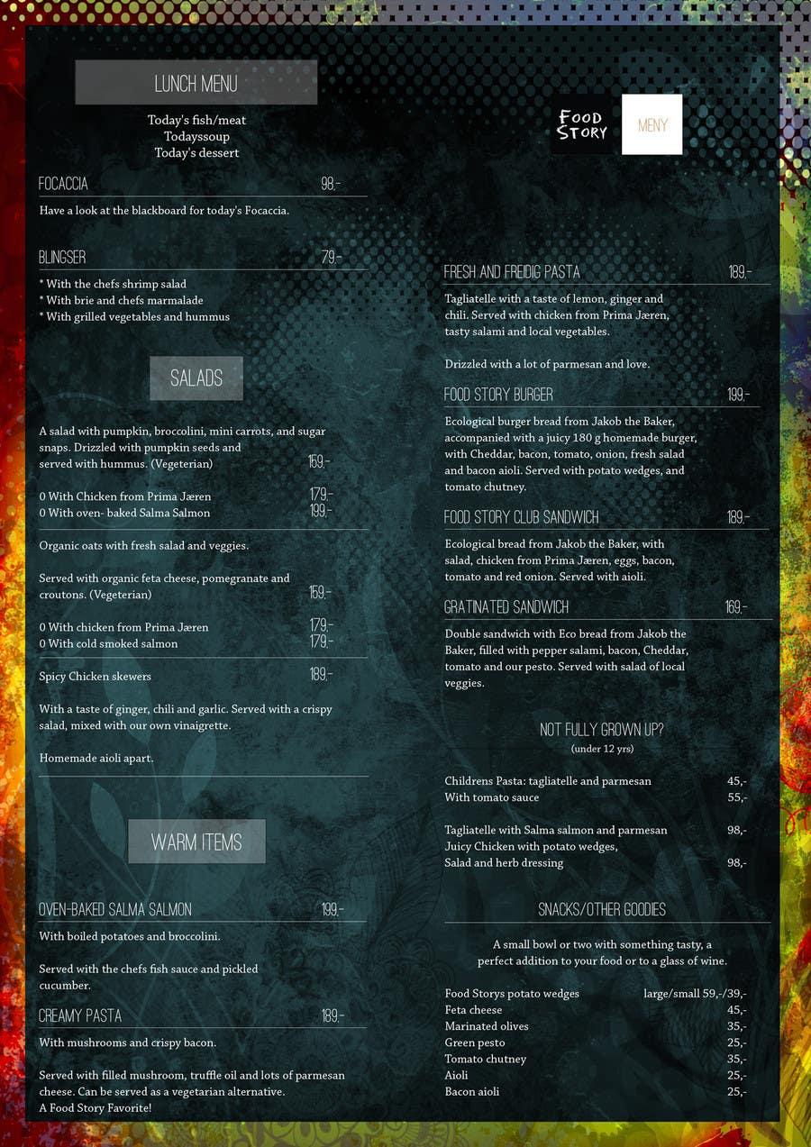 Bài tham dự cuộc thi #                                        26                                      cho                                         Create a background for a restaurant menu.