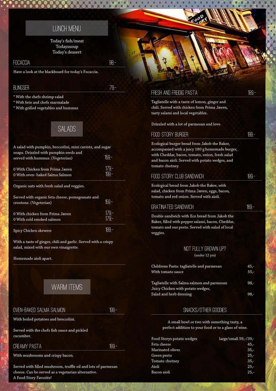 Bài tham dự cuộc thi #                                        36                                      cho                                         Create a background for a restaurant menu.