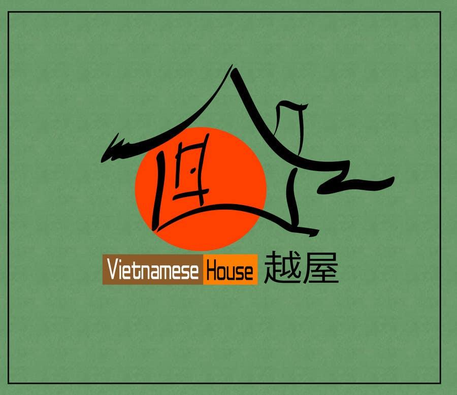 "Penyertaan Peraduan #                                        93                                      untuk                                         Design a Logo for Vietnamese restaurant named ""越屋 Vietnamese House"""