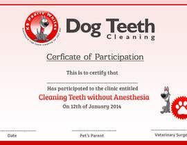 #55 for Design A Dog Teeth Cleaning Certificate by MonsterGraphics
