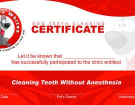 #51 for Design A Dog Teeth Cleaning Certificate by samzter21