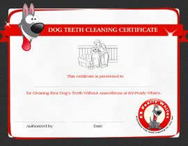 #12 for Design A Dog Teeth Cleaning Certificate by VrushaliSingh