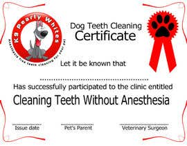 #50 for Design A Dog Teeth Cleaning Certificate by stajera