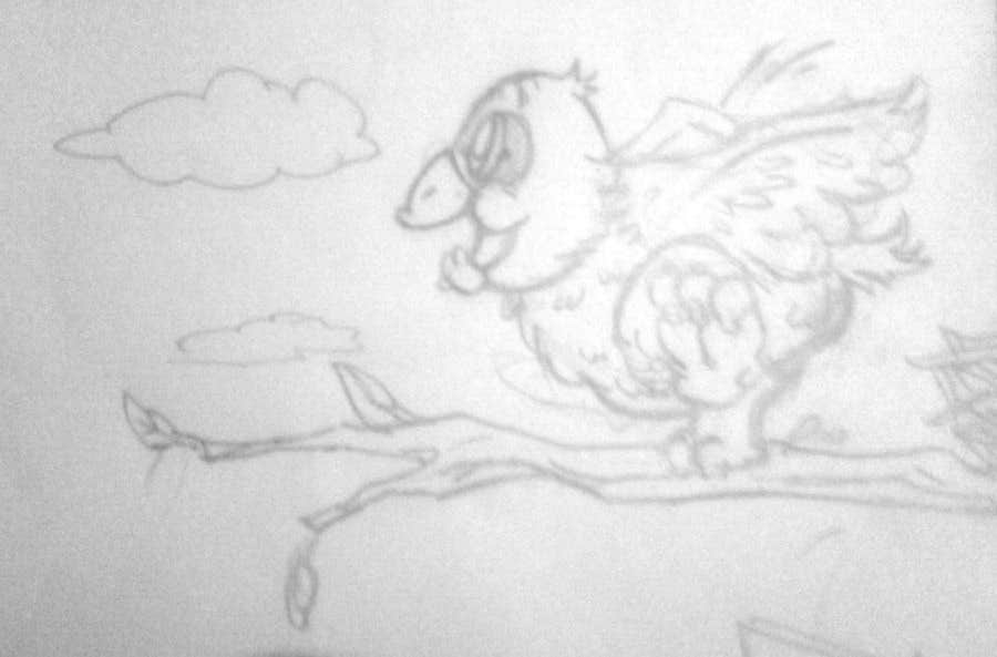 #10 for Illustrating 3 pictures of an eagle baby by v9s2