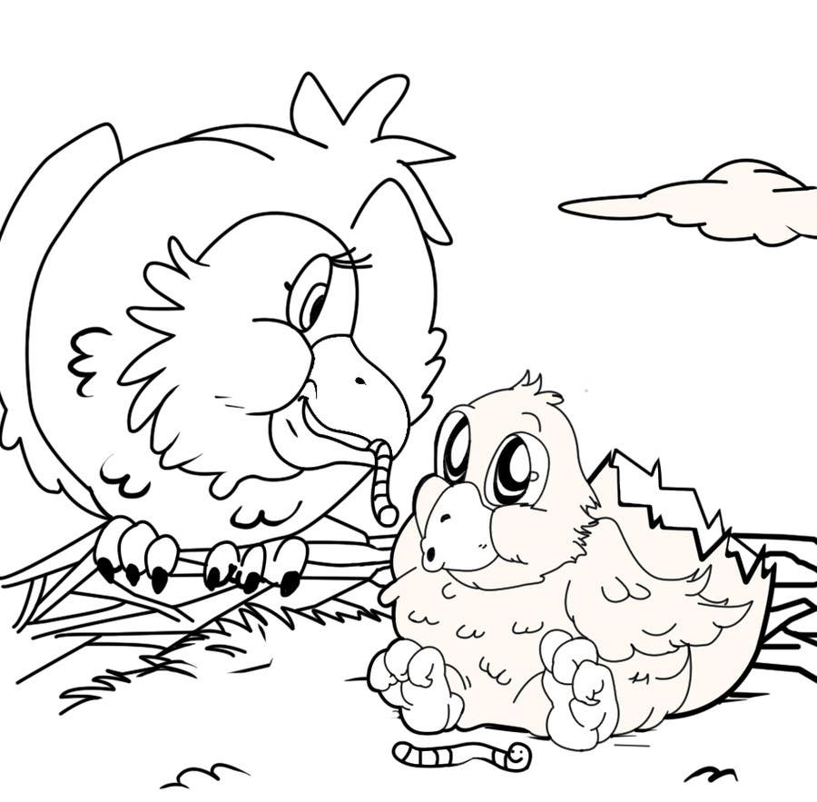 #26 for Illustrating 3 pictures of an eagle baby by v9s2