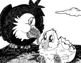 #30 for Illustrating 3 pictures of an eagle baby by v9s2