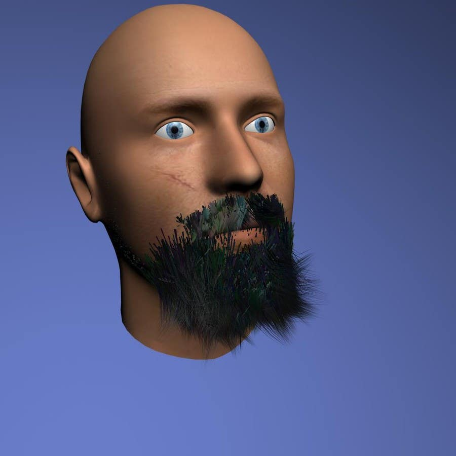 #23 for Create realistic 3D beard for interactive viewing by handras88