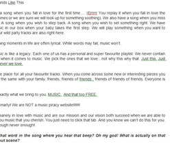 #16 for Write About Us page for a music video website by digitaladguy