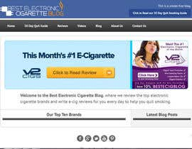 #60 untuk Design a Logo for An Electronic Cigarette Blog oleh dindinlx