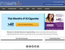 #61 untuk Design a Logo for An Electronic Cigarette Blog oleh dindinlx