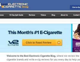 nº 81 pour Design a Logo for An Electronic Cigarette Blog par malane4ka