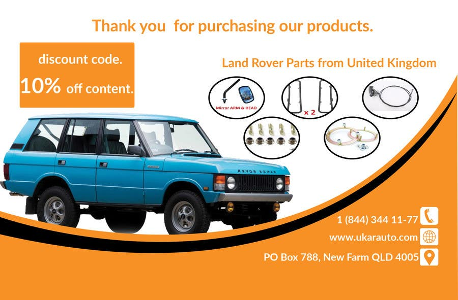 Entry 10 By Robiul20 For Design A Flyer For Online Land Rover Auto