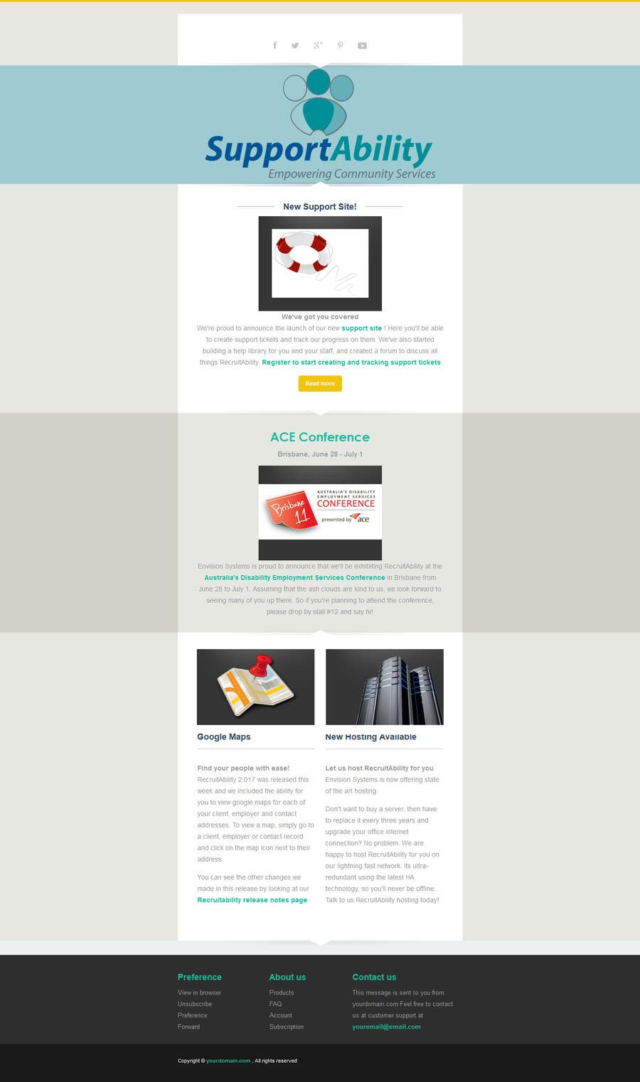 great mailchimp templates - design 2 mailchimp responsive email templates newsletter