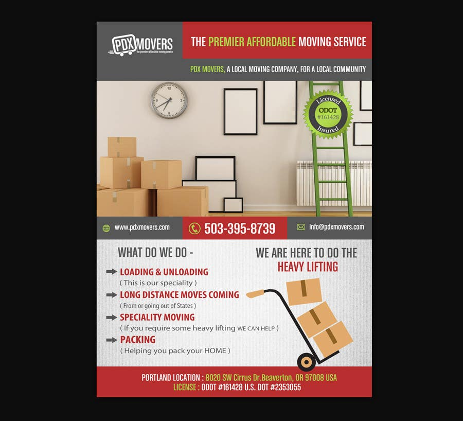 contest entry 11 for design a flyer for a moving company