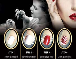 #4 para Design a flyer for a nail product with a four step process. por dalizon