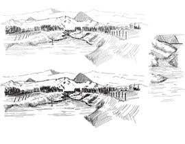 wahala tarafından River and mountain illustration için no 6