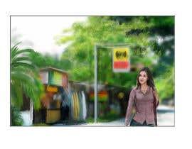 Nro 4 kilpailuun Draw a girl walking down the street käyttäjältä marinasanc