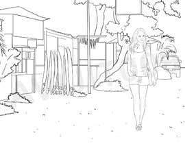 Nro 6 kilpailuun Draw a girl walking down the street käyttäjältä avijitsil009
