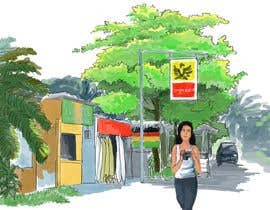 Nro 3 kilpailuun Draw a girl walking down the street käyttäjältä endario