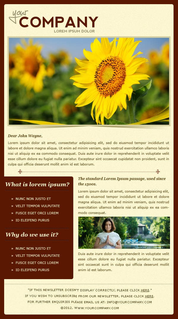 #32 for Photoshop Design for a dummy newsletter by creativeideas83
