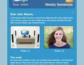 #5 para Photoshop Design for a dummy newsletter por giannoulasv