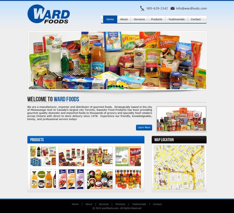 Inscrição nº 6 do Concurso para Design a Website Mockup for a Wholesale food distributor