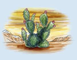Nro 4 kilpailuun Cactus Redesign For T-shirt Print käyttäjältä gerardocastellan