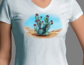 Nro 14 kilpailuun Cactus Redesign For T-shirt Print käyttäjältä gerardocastellan