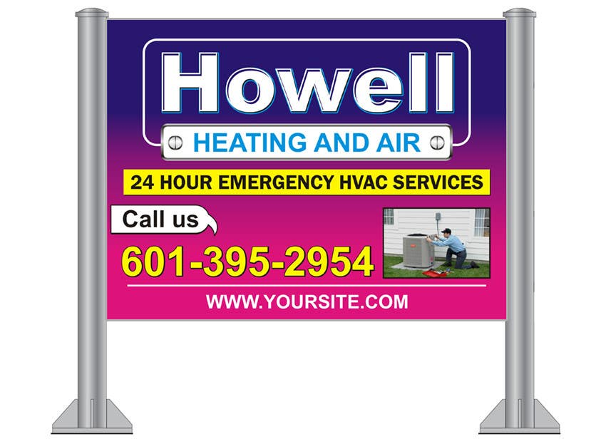 contest entry #10 for corel draw design - yard sign for hvac company