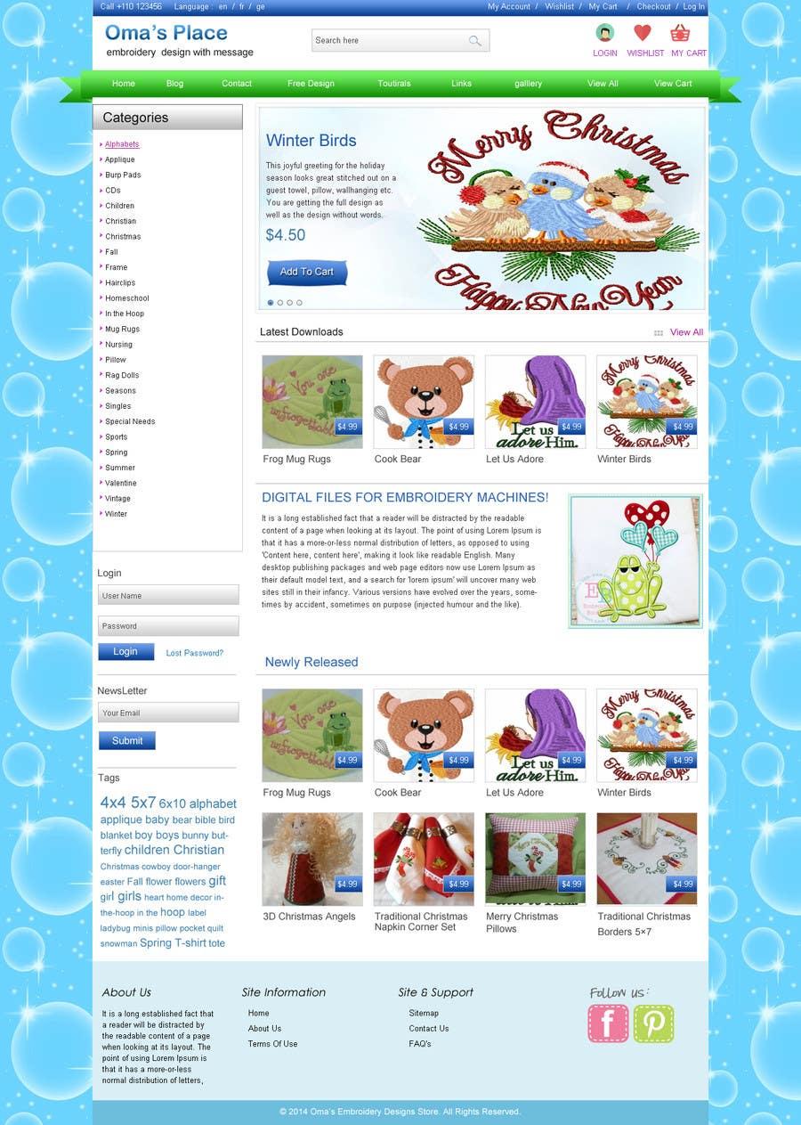 Kilpailutyö #3 kilpailussa Design a Website Mockup for Oma's Place.com