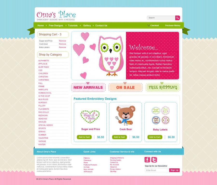 Kilpailutyö #9 kilpailussa Design a Website Mockup for Oma's Place.com
